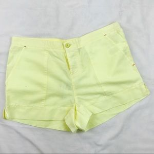 C&C California Solid Linen Cotton Short Sunshine